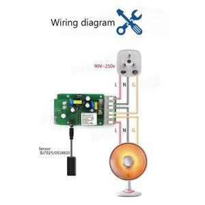 Image 4 - Sonoff TH10/16A akıllı Wifi anahtarı izleme kablosuz prob sıcaklık nem sensörü anahtarı Wifi akıllı ev uzaktan kumanda
