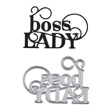 YaMinSanNiO Boss Lady Word Dies Letter Metal Cutting for Card Making Scrapbooking Embossing Cuts Stencil Decor Craft Die