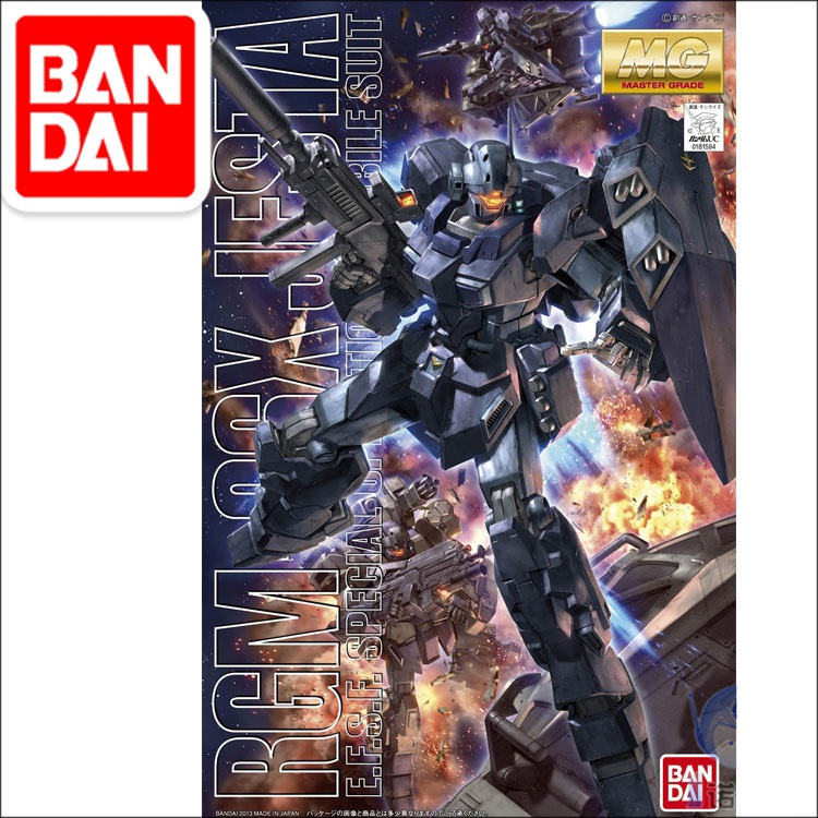 Original MG 1/100  Gundam Model RGM-96X JESTA CANNON GUNDAM Japanese Model Robot Mobile Suit Kids Toys