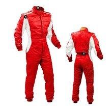 Persoonlijkheid heldere kleur auto kart racing pak en wit licht spot drift racing auto doek bike racers jassen