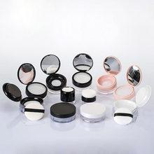 1 pçs novo pó solto plástico elástico líquido jar maquiagem portátil blush pode preenchido caixa recipiente de embalagem de cosméticos com sopro 10/20g