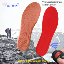 2300mAh Electric Insoles with Remote Control Breathable Smart USB Charging Warm Foot Winter Outdoor Thermal Insoles for Women