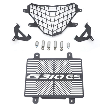 Headlight Grille Guard Cover Protector+Radiator grille guard protection cover For BMW G310GS 2017-2019