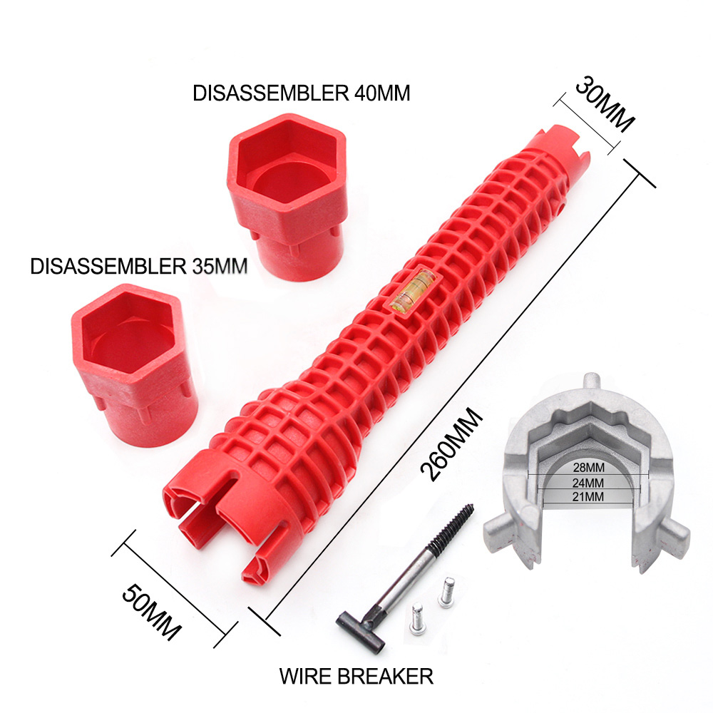 multifunctional lightweight basin wrench 45 steel red faucet sink installer socket wrench handle wrench tool for home kitchen