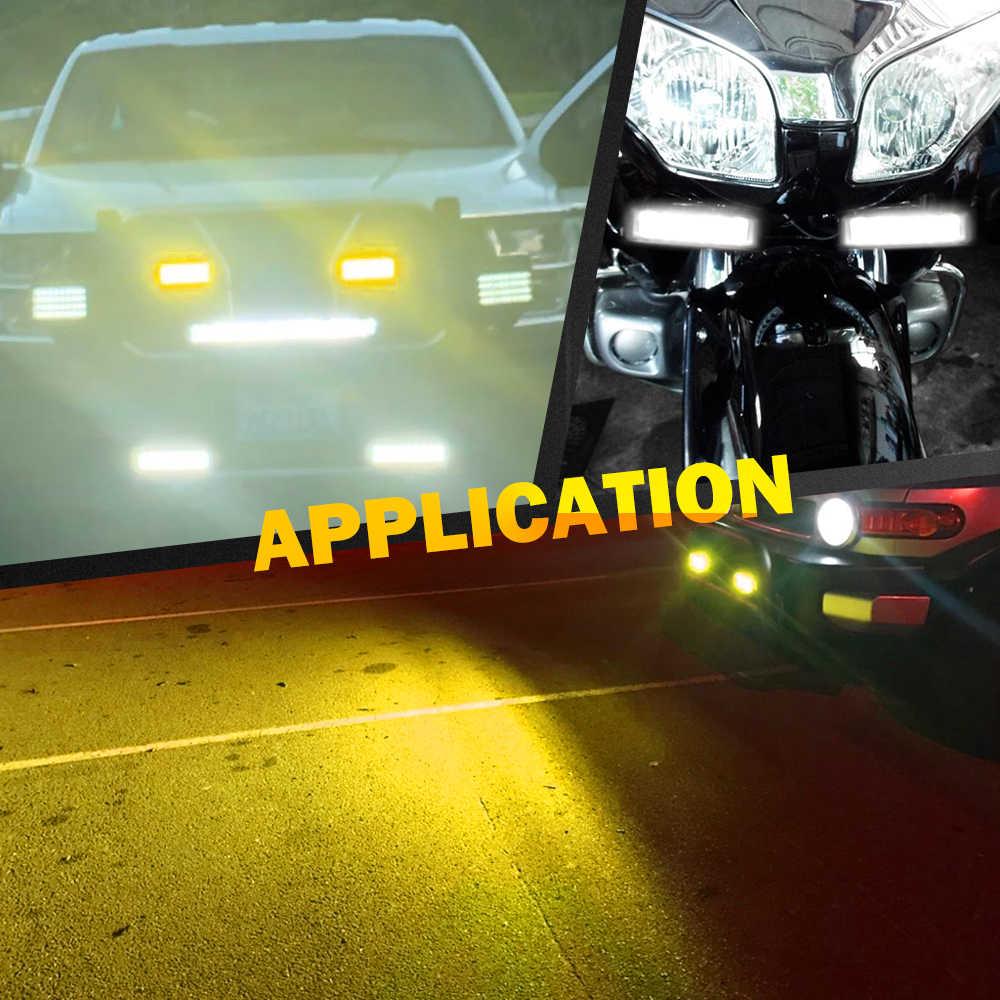 Светодиодный рабочий светильник CO 12D, 6 дюймов, 5 лм, комбинированный светильник DRL, светодиодный светильник для внедорожников, внедорожников, грузовиков, квадроциклов, Лада нива, противотуманная фара 12 В 24 В