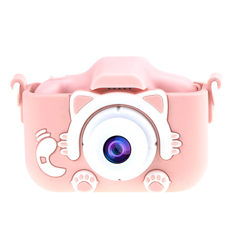 2.0 Inch HD Shockproof Kids Digital Camera Children Selfie Video Camcorder Toys Gifts For Girls Boys With 32 GB Memory Card