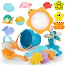 再生砂水ビーチおもちゃ子供のためのベビーゲームサンドボックス水テーブルカート釣りネットワーク亀砂場夏の浴室のおもちゃ