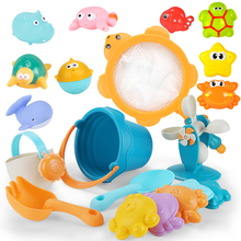 play sand water Beach toys for Kids Baby Game Sandbox water table Cart Fishing Network Tortoise sandpit Summer bathroom toys