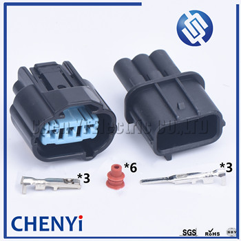 1 Set 3 Pin 6189-0596 Auto Connector Female Male For Honda K-Series 05-06 VSS Vehical Speed Sensor Sumitomo image