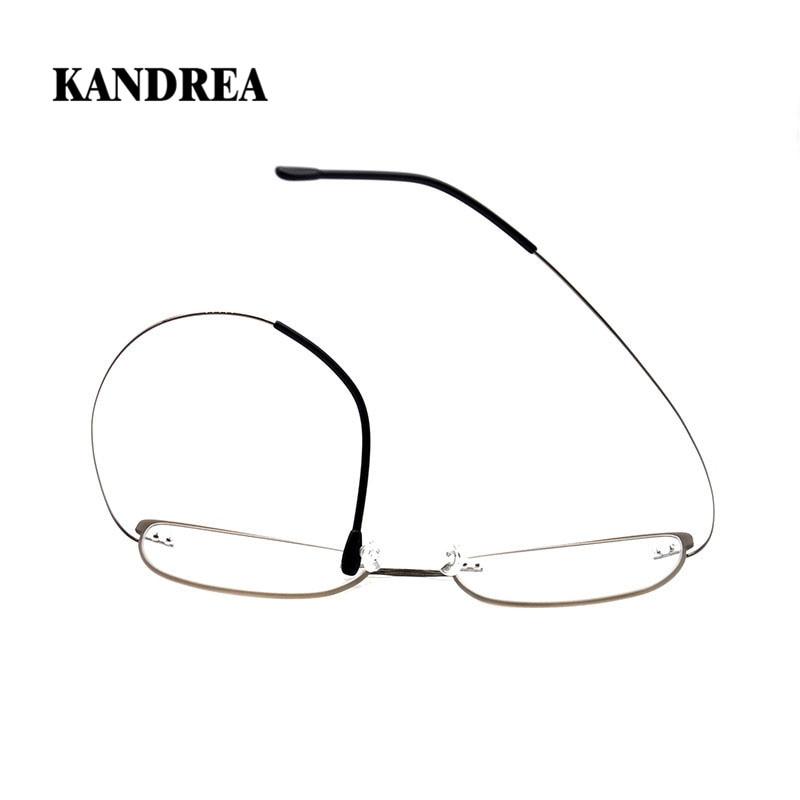 KANDREA 2020 10g Ultralight Beta Titanium Flexible Women Cat Eye Optical Glasses Frame Men Prescription Eyeglasses Myopia Frames