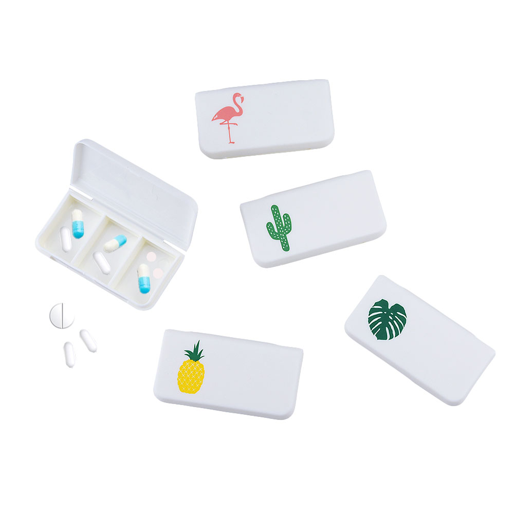 1PCS Portable 3 Grid Pill Box Storage Box Mini Pill Box Container Dispenser Makeup Jewelry Box