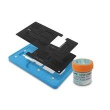 Материнская плата среднего уровня для IPhone X XS Max Магнитная фиксированная пластина позиционирования приспособление BGA реболлинга трафарет, паяльная паста