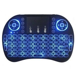 Image 2 - Novo 2014 rato de ar 92 chave mini portátil 2.4ghz inglês layout teclado touchpad mouse controle remoto do jogo teclado sem fio