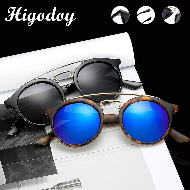 Higodoy Retro Round Oversized Women Sunglasses Reflective Vintage Goggle Sun Glasses For Men Uv400 Mirror Gafas New Arrival 2019