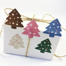 цена на 100Pcs/lot  lovey Sticker DIY Stickers Colourful Christmas Tree Decoration Packaging Stickers Scrapbooking