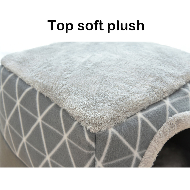 Petshy Cat Dog Bed Nest Warm Pet Cave Pad Mat Cushion Puppy Cats Sleeping Bed Sofa for Medium Dogs Cat Kennel Cages House Basket