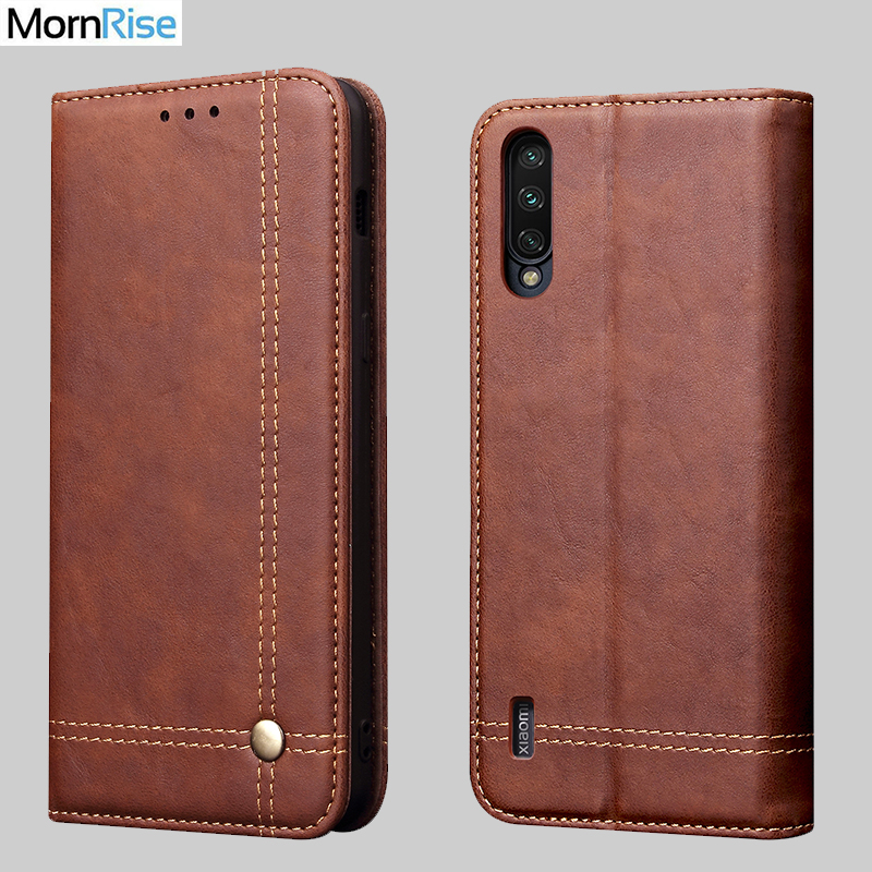 Luxury Retro Slim Leather Flip <font><b>Cover</b></font> For <font><b>Xiaomi</b></font> MI <font><b>9</b></font> lite Case Wallet Card Stand Magnetic Book <font><b>Cover</b></font> For Xaomi MI <font><b>9</b></font> Pro 5G Cases image
