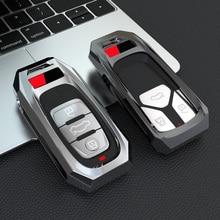 Сплав с дистанционным управлением, умный чехол для ключей от Fob чехол в виде ракушки для Audi A1 A3 A4 A5 A6 A7 A8 Quattro Q3 Q5 Q7 2009 2010 2011 2012 2013