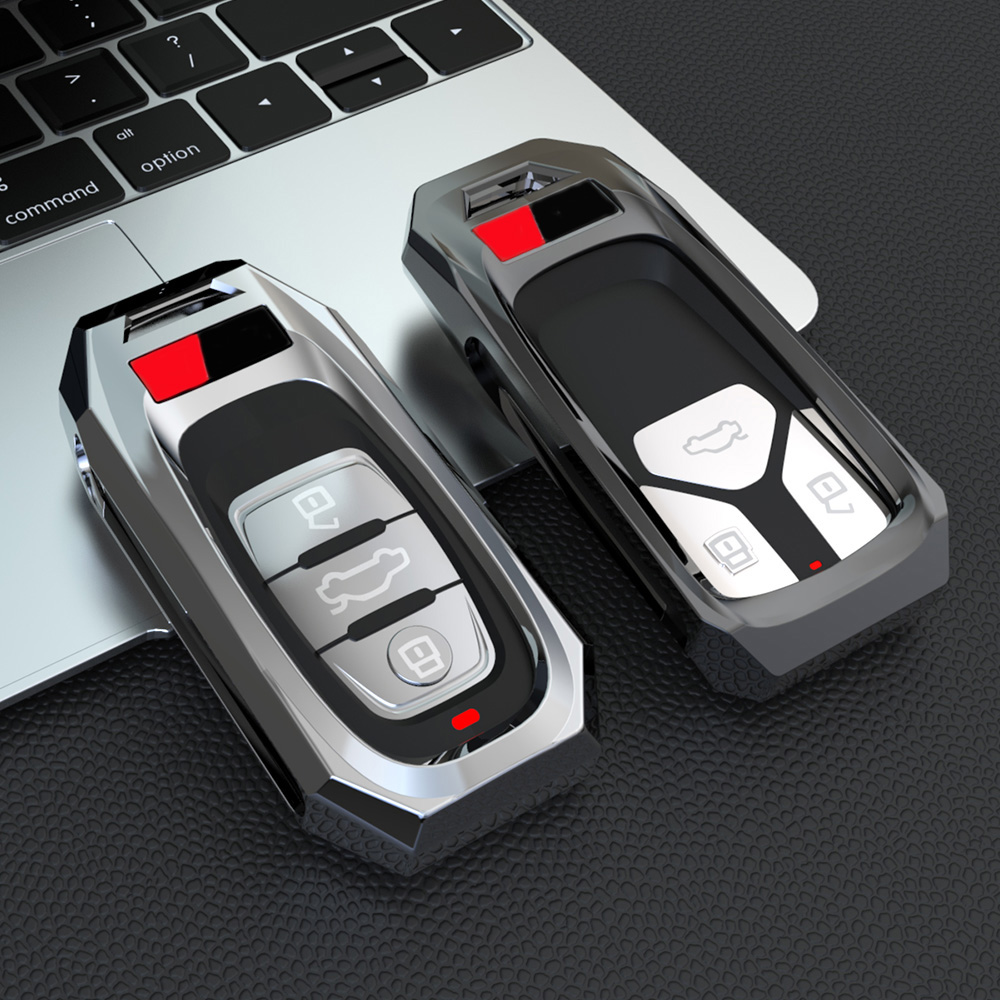 Alloy Remote Smart Key Cover Fob Case Shell For <font><b>Audi</b></font> A1 A3 A4 A5 <font><b>A6</b></font> A7 A8 Quattro Q3 Q5 Q7 2009 2010 2011 2012 2013 <font><b>2014</b></font> 2015 image