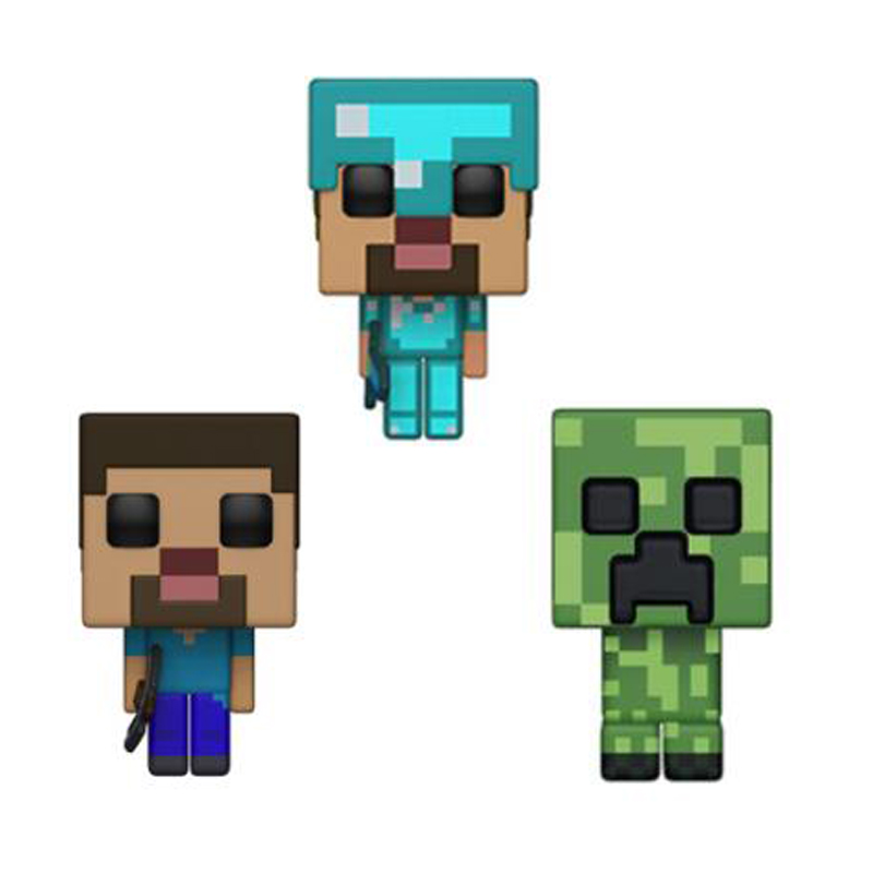 Minecraft & CREEPER STEVE STEVE IN DIAMOND ARMOR Vinyl Action Figure Collection Model Toys For Children Birthday Gift