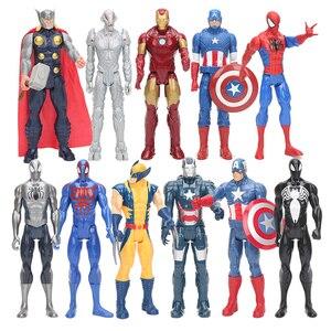 30 centimetri Marvel Avengers 4 Endgame Captain America Ironman Spiderman Thor Ultra Venom Wolverine di Azione del PVC Figure Toy(China)