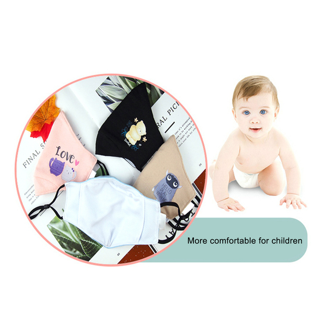 Antidust Cotton Mouth Masks For Newborn Babies Against Dust, Pollen, Allergens And Flu Germs Healthy Care Mask 1