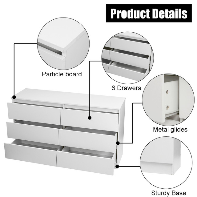 6 Drawers Chest of Drawers  5