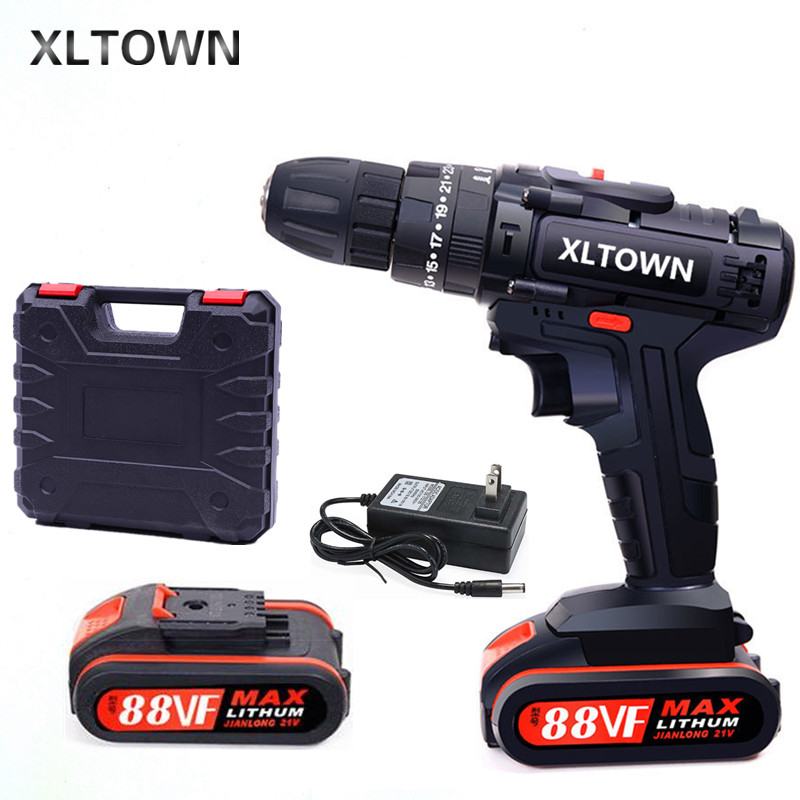 XLTOWN 88VF lithium electric drill new multifunctional impact drill home cordless electric screwdriver power tool
