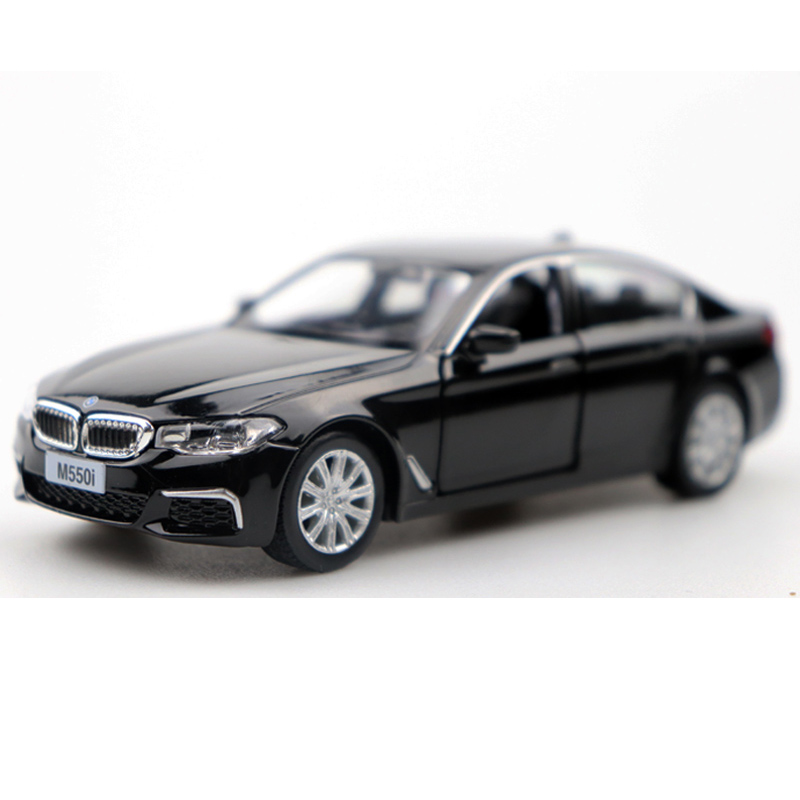 1:36 Scale BWM M550i Simulator Diecast Model Car Metal Alloy Vehicles Pull Back Toy Car For Boy Children Gift Collection