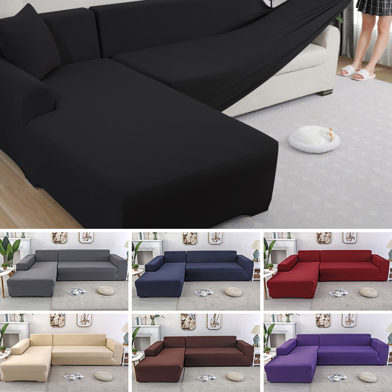 Modern Corner Sofa Cover Living Room Furniture Cover Couch Slipcover Chaise Longue Sofa Cover L Shaped Elastic Stretch Universal