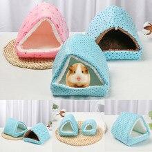 Casa de hamster cobaia ninho pequeno animal dormir cama inverno quente algodão esteira macio acessórios para roedor/cobaia/rato