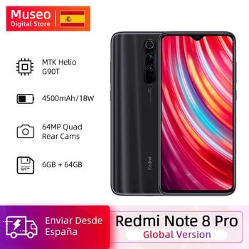 Перейти на Алиэкспресс и купить Глобальная версия Xiaomi Redmi Note 8 Pro 6 ГБ 64 Гб ROM 64 мп Quad Camera MTK Helio G90T смартфон 4500 мАч 18 Вт QC 3,0 UFS 2,1