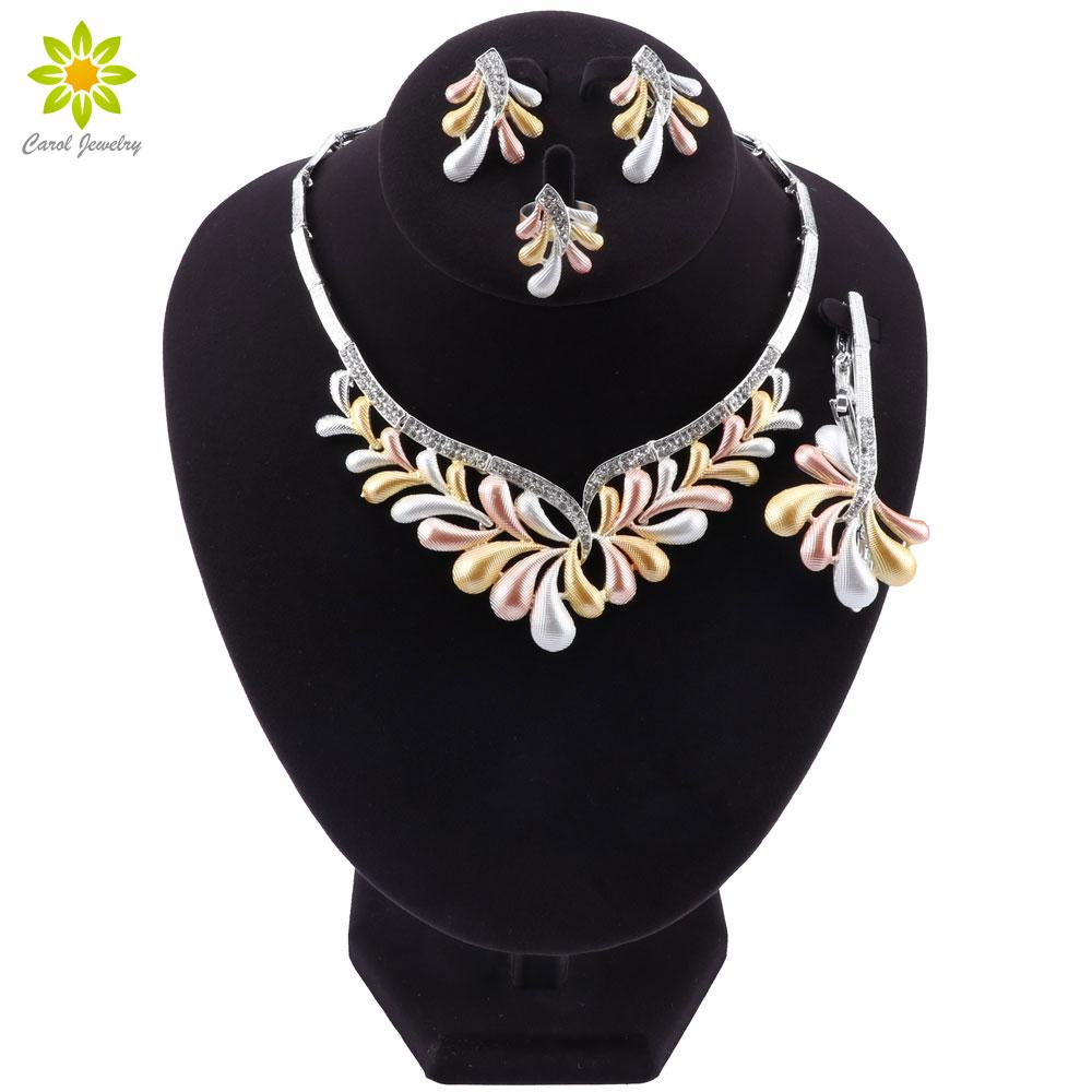 Woman Accessories Jewelry Set Bridal Gift Fashion African Beads Jewelry Set Wholesale Dubai Gold Jewelry Set Wedding DesignBridal Jewelry Sets   -