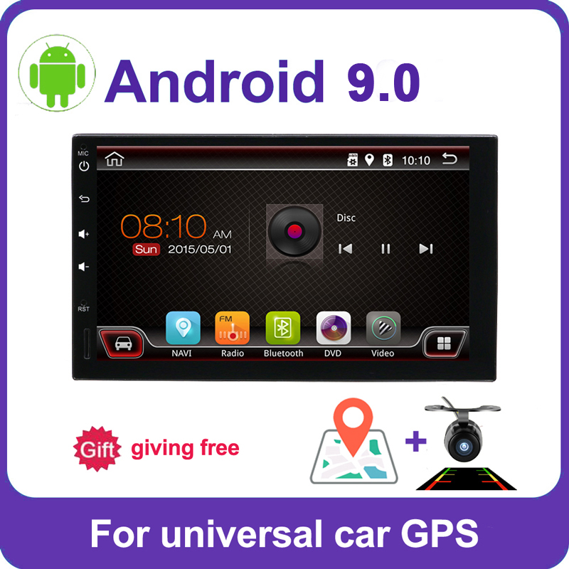 2din car radio gps android 9.0 car stereo cassette player recorder Radio Tuner GPS Navigation RDS support steering wheel control