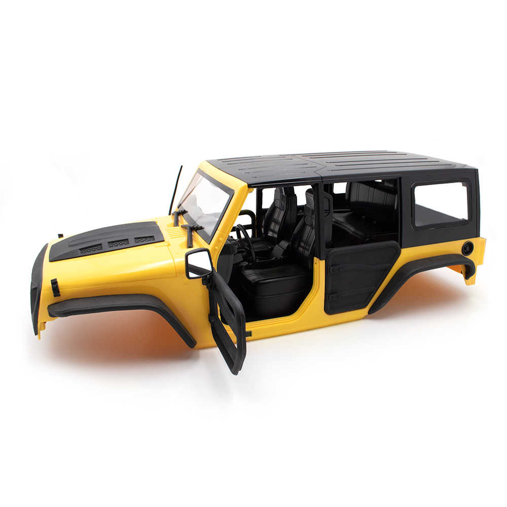 KYX Racing ABS JEEP Wrangler Hard Body รถหลังคา RC รถสำหรับ RC Crawler Axial SCX10 II 90046 body SHELL 313 มม.