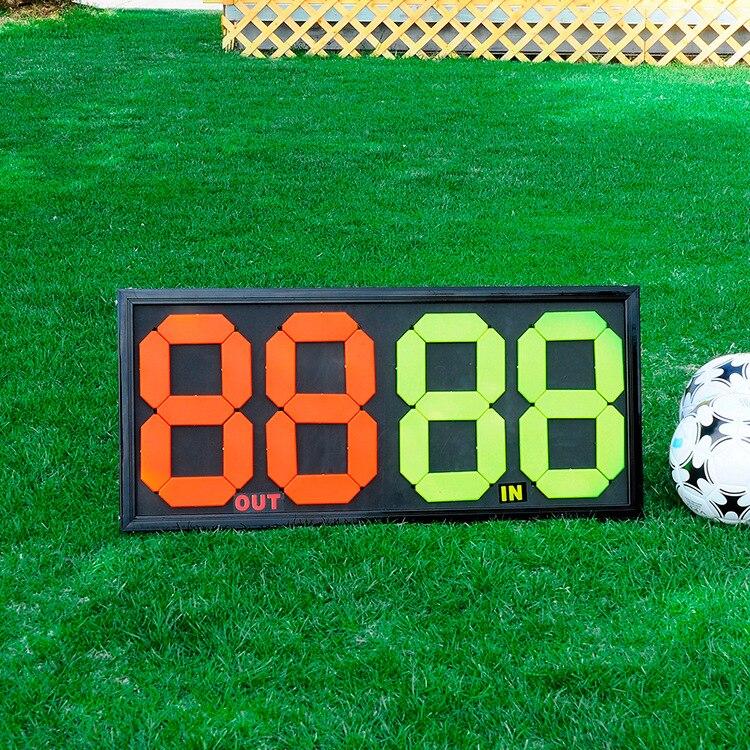 Футбольное табло замены игроков ручные замены номерной знак двухсторонний дисплей четырехзначный большой размер может быть изменен
