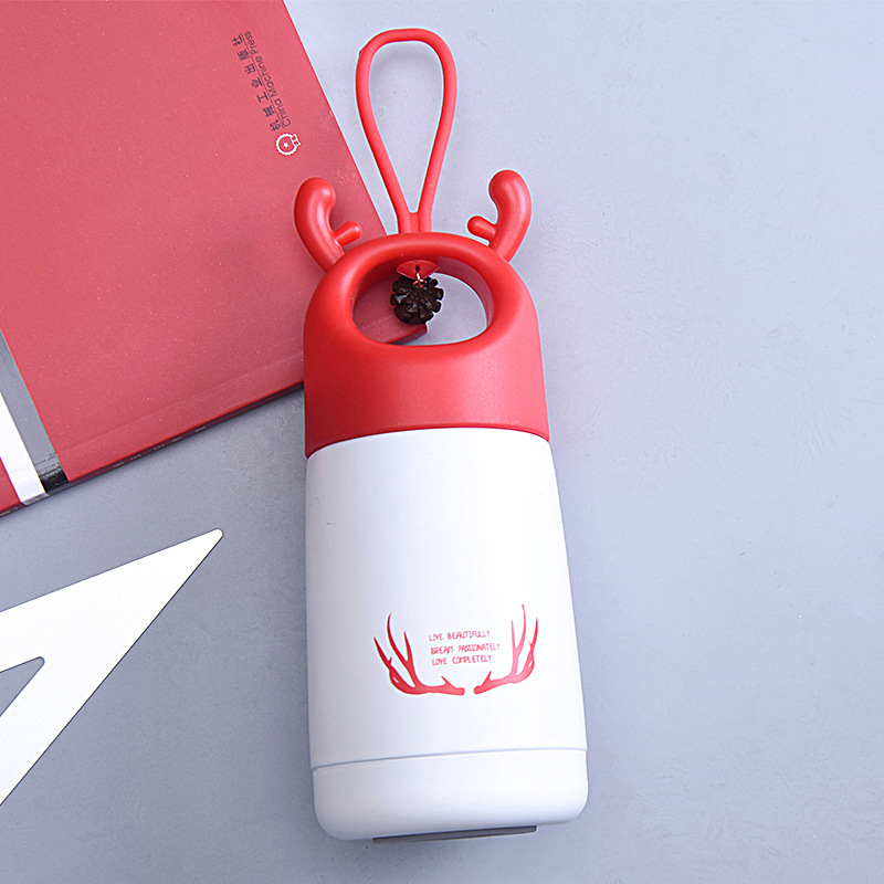 300ml <font><b>Baby</b></font> Feeding Cup Stainless Steel Milk Thermos hot water Bottle leak-<font><b>poof</b></font> thermal Cup for Children Insulated image