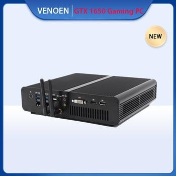 데스크탑 게임용 컴퓨터 Intel i7 7920HQ 7820HK NVIDIA GTX 1650 GDDR5 4GB 듀얼 Lan 2 * DDR4 M.2 NVME 미니 PC Win10 HDMI DP DVI WiFi