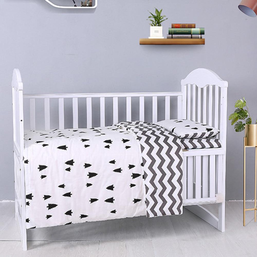 Minipear 2020 3Pcs Crib Bed Linen Kit for Boy Girl Cartoon Baby Bedding Set Includes Pillowcase Bed Sheet Duvet Cover Without Filler,6,Animal 3Pcs-7-Dinosaur3Pcs