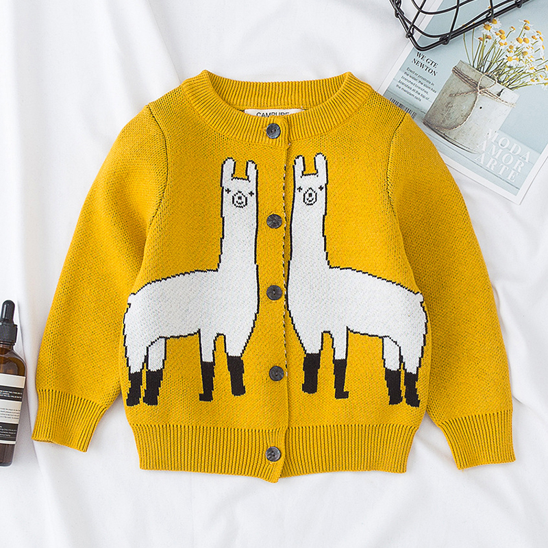 Autumn Family Matching Clothes Women's Baby Boy Girl Cartoon Animal Pattern Long Sleeve Sweaters Mother Son Daughter Outfits 3