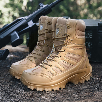 Botas Militares De Combate para hombre, zapatos De trabajo Militares, Botas Militares ultraligeras, color negro, para Otoño e Invierno