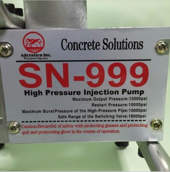 Затирочная машина водостойкая эпоксидная/полиуретановая пена насос для впрыска бетона ремонт трещин ремонт водонепроницаемый - 3