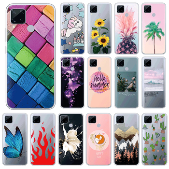 Silicone Case For Oppo realme C15 4G TPU 6.5 Phone Cases For Oppo realmeC15 C 15 Soft Cute Shockproof Back Cover Fundas Coque image