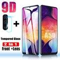 2 в 1 протектор экрана для samsung Galaxy A50 стекло для samsung A10 A40 A70 закаленное стекло A 50 объектив защитная пленка