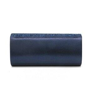 Image 5 - Senhoras sacos de embreagem azul carteira festa saco banquete envelope sacos elegante festa à noite cruz corpo saco preto