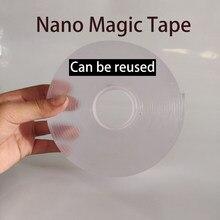 1mm transparente dupla face não-marcação nano-fita acrílico dupla face adesiva lavagem fita mágica repetir adesivo reutilizável