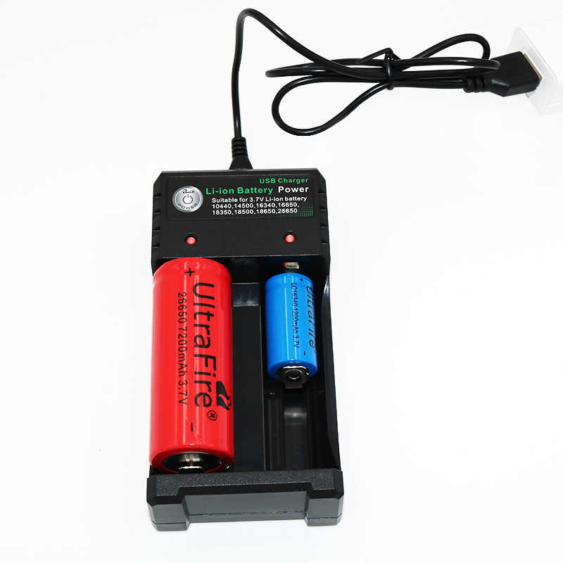 3.7V 18650 Charger Baterai Li-ion USB Pengisian Independen Portable Rokok Elektronik 18350 16340 14500 Battery Charger