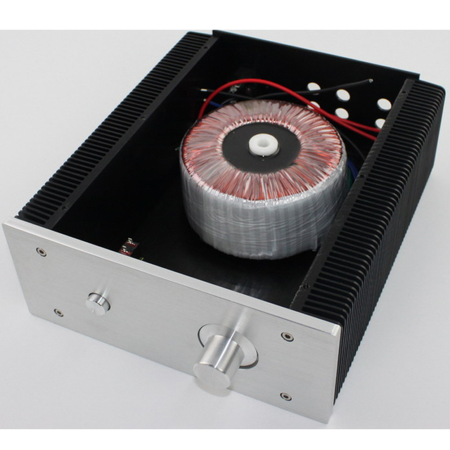 Châssis amplificateur de puissance tout aluminium bricolage WA5 classe A boîtier boîtier Audio boîtier amplificateur boîtier avec radiateur 262*223*92MM