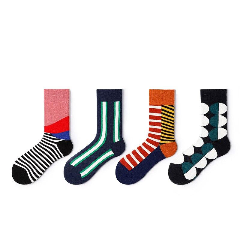 Man Socks Trend Women Autumn Winter New Fashion Cotton Printing Elastic Comfortable Personality Breathable Happy Socks Women