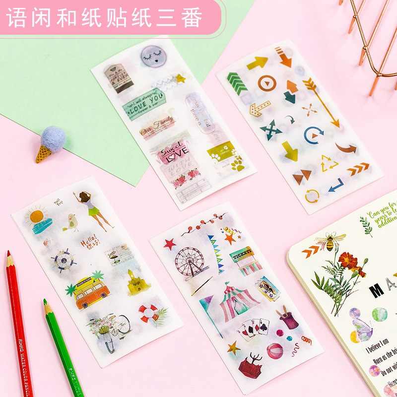 Originality And Paper Sticker Idle Language Hand Account Three Some Antique Watercolor Cartoon Daily Plane Pictures On Match Box